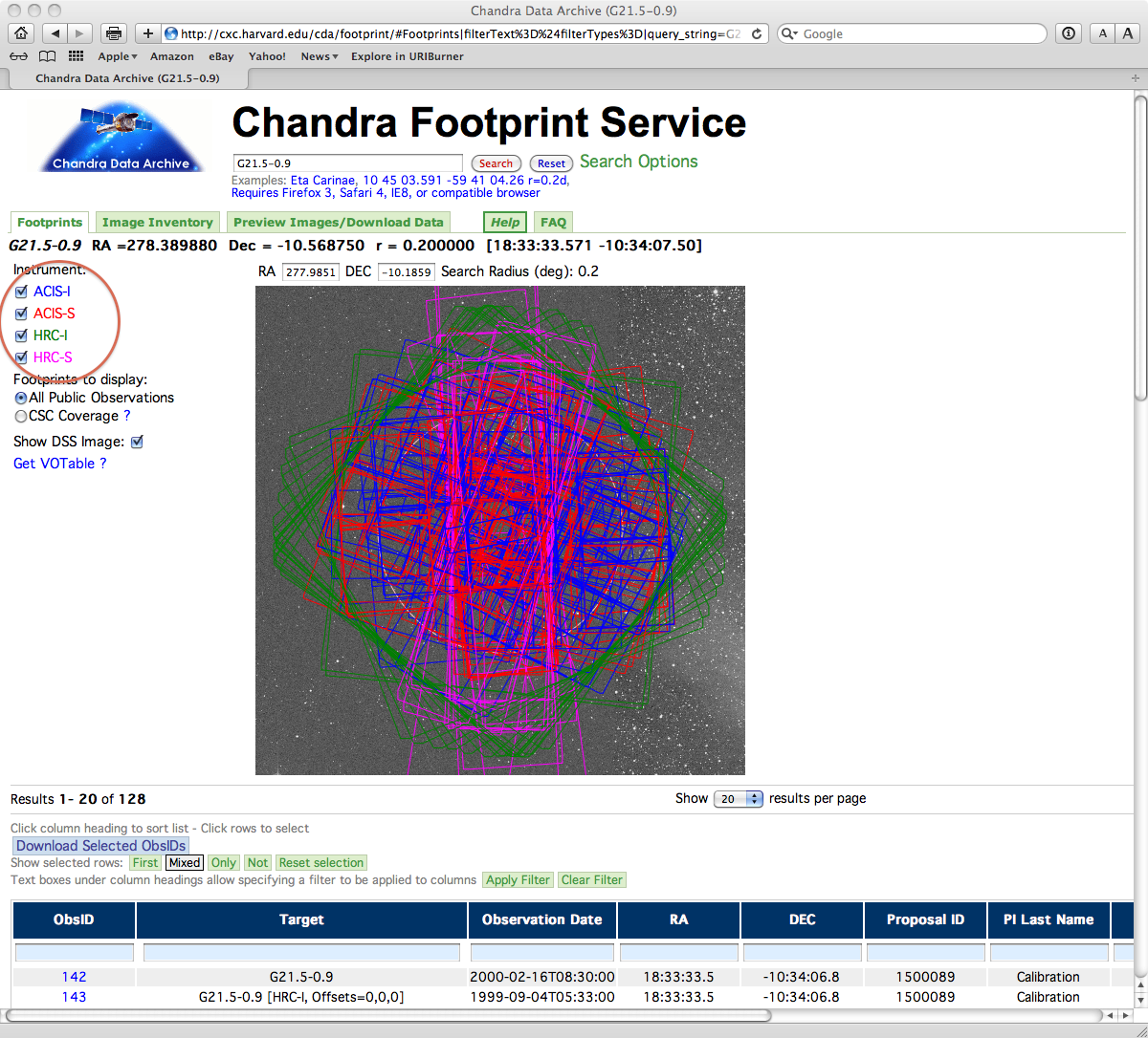 Download Chandra Data from the Archive - CIAO 4 11