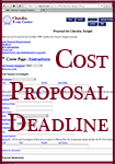 Cost proposals due